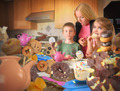 Junk Food Snack Kids Getting Caught by Mom - PhotoDune Item for Sale