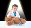 Child Doctor and Teddy Bear Checkup - PhotoDune Item for Sale