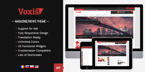 Voxis - Responsive News, Magazine Theme - Blog / Magazine WordPress