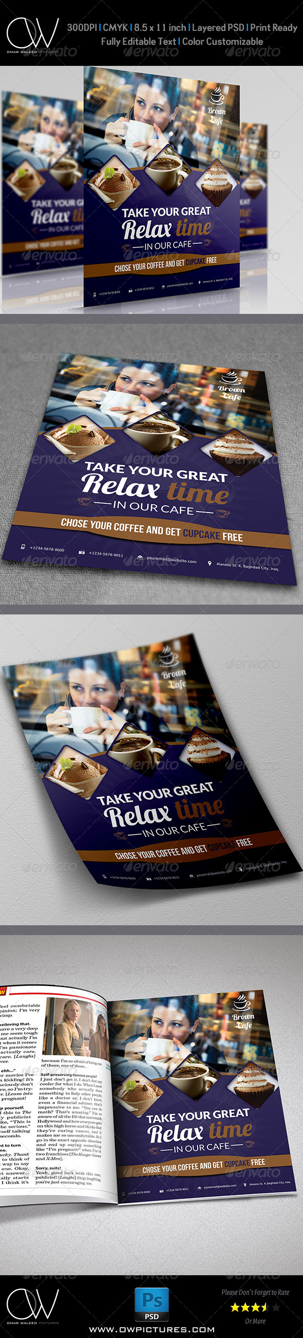 GraphicRiver Cafe Restaurant Flyer Template Vol.2 5687313