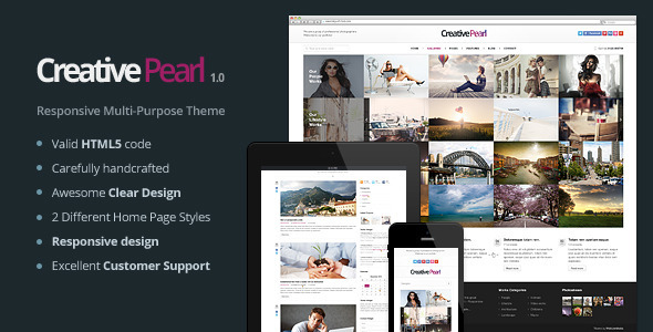 ThemeForest CreativePearl Photography Responsive Template 5672602