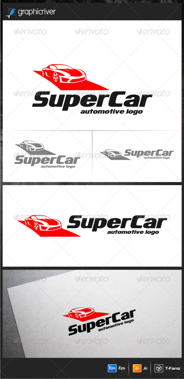 GraphicRiver Super Car Logo Templates 5687915