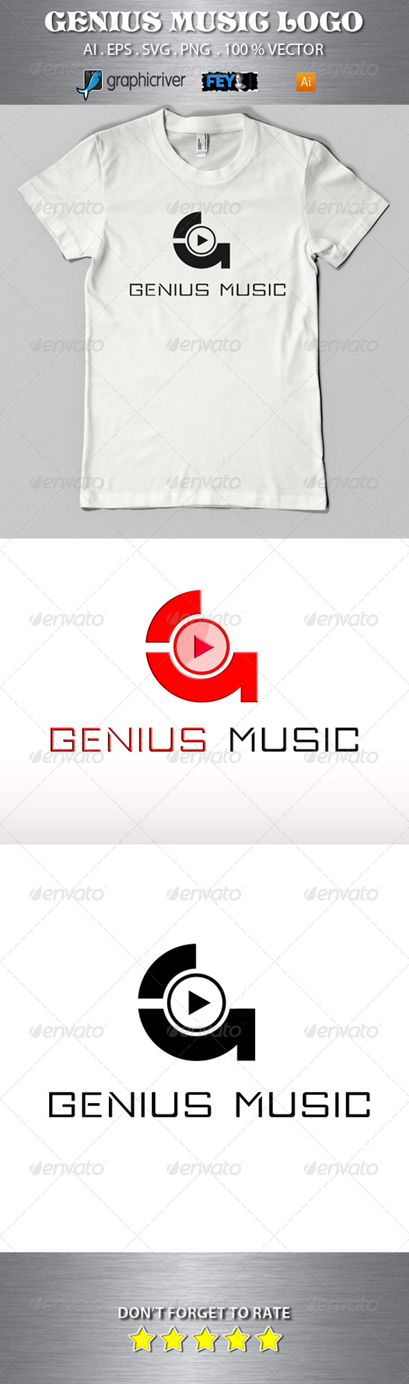 GraphicRiver Genius Music Logo 5687948