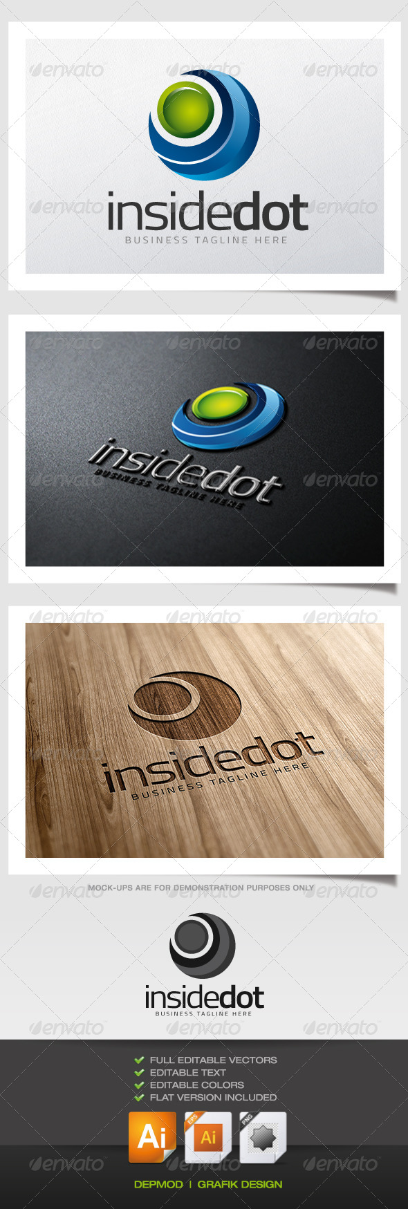 Inside Dot logo - Abstract Logo Templates