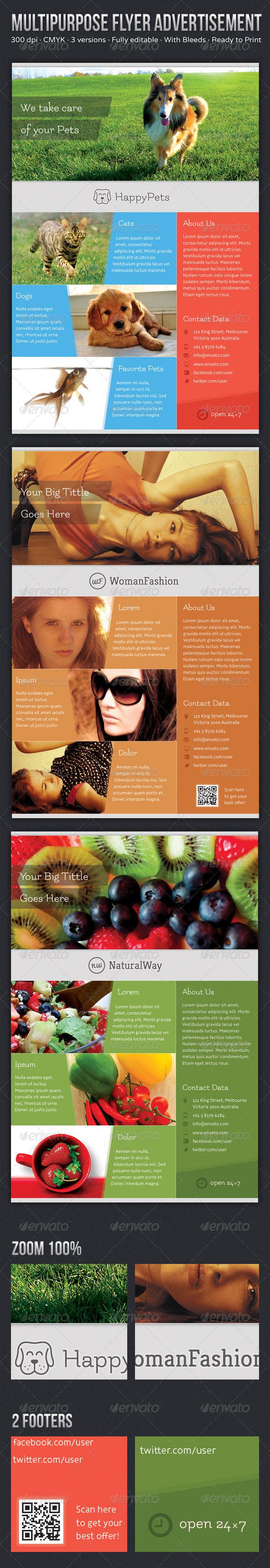 GraphicRiver Multipurpose Flyer Advertisement Volume 2 5689338