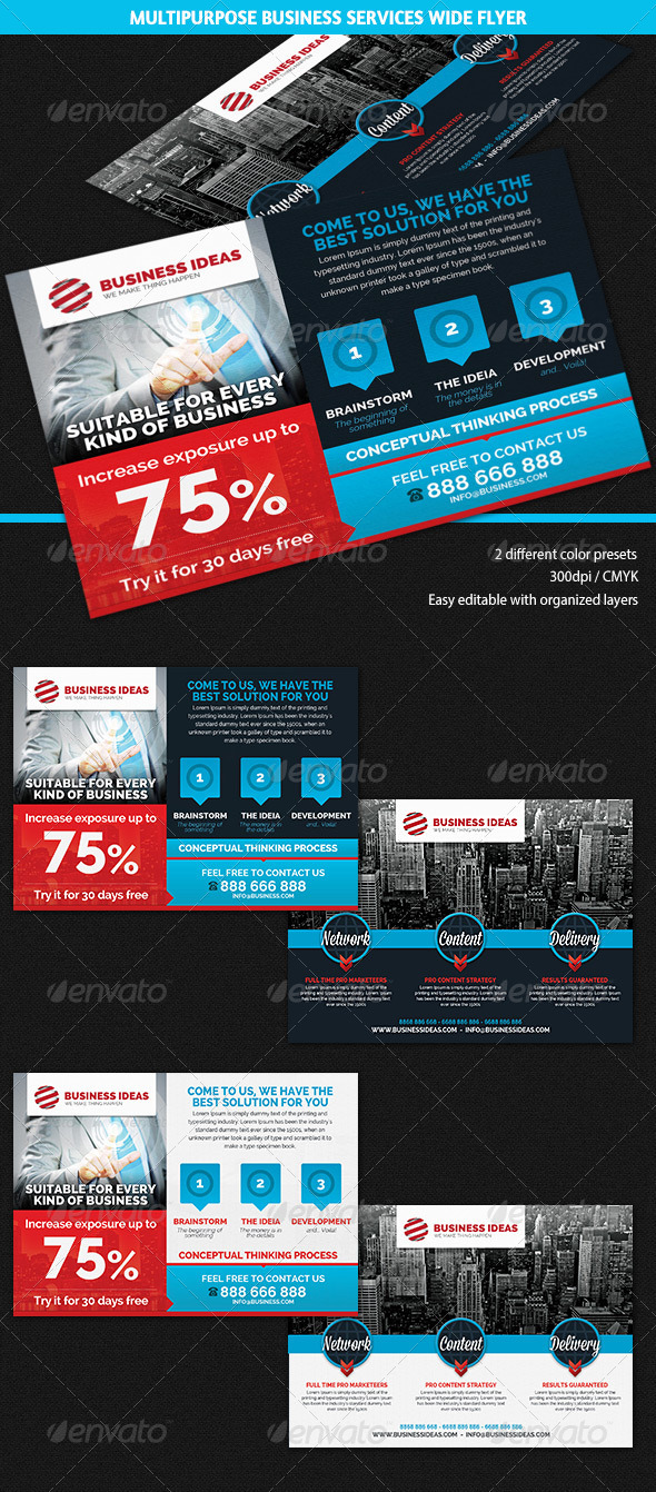 GraphicRiver Multipurpose Business & Services Flyer 5689592