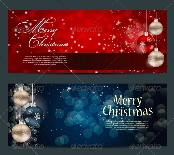 GraphicRiver Set of Cards with Christmas Balls Stars and Snowflakes 5689811