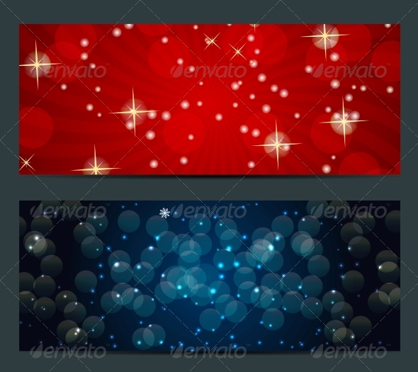 GraphicRiver Set of Cards with Christmas Balls Stars and Snowflakes 5689814