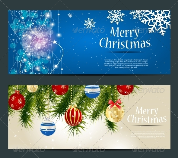 GraphicRiver Set of Cards with Christmas Balls Stars and Snowflakes 5689829