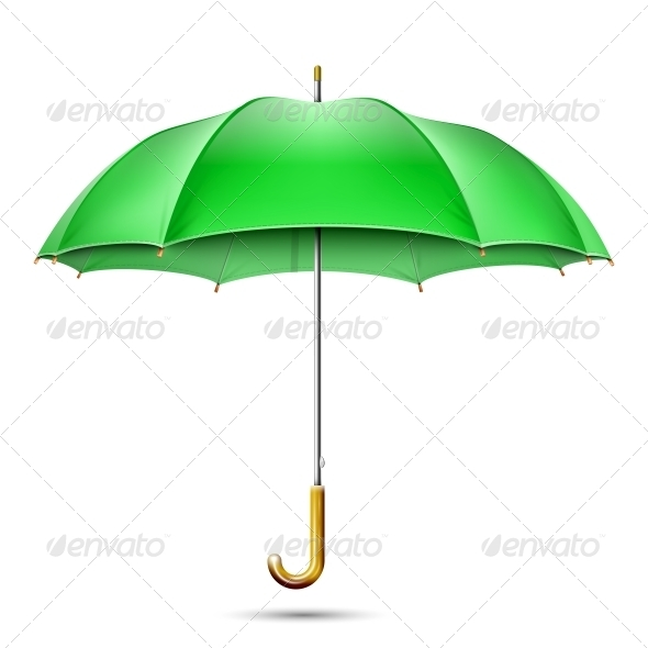 GraphicRiver Realistic Detailed Green Umbrella 5690375