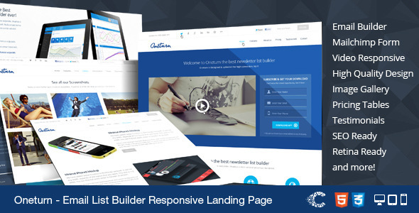 ThemeForest Oneturn Marketing List Builder Landing Page 5690526