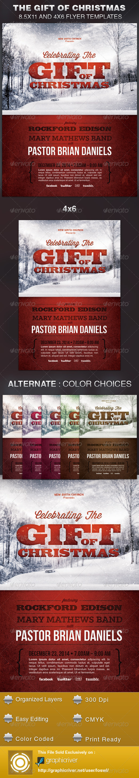 GraphicRiver Celebrating the Gift of Christmas Church Flyer 5691053