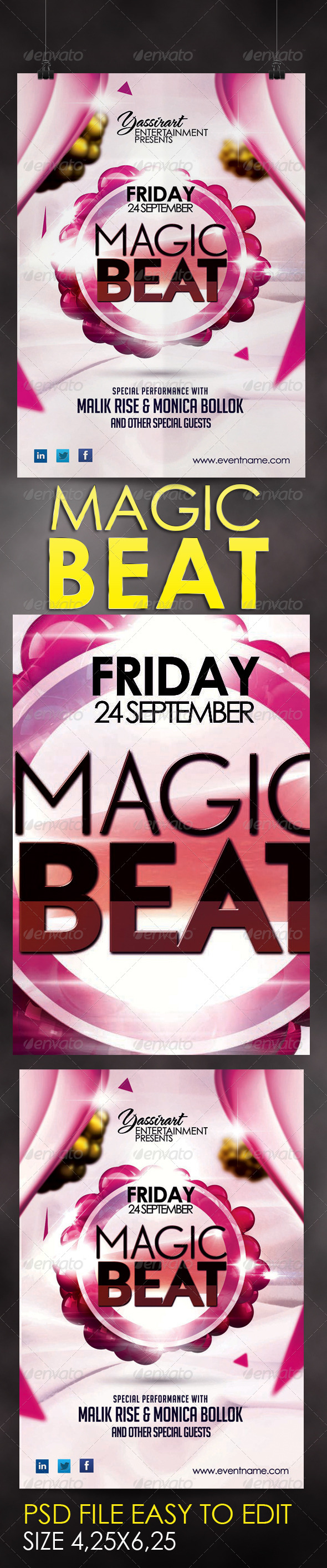 GraphicRiver Magic Beat Flyer Template 5691066