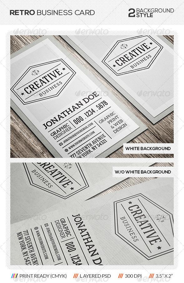 GraphicRiver Retro Vintage Business Card 5692223