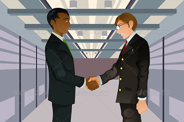 GraphicRiver Businessmen Shaking Hands 5692247