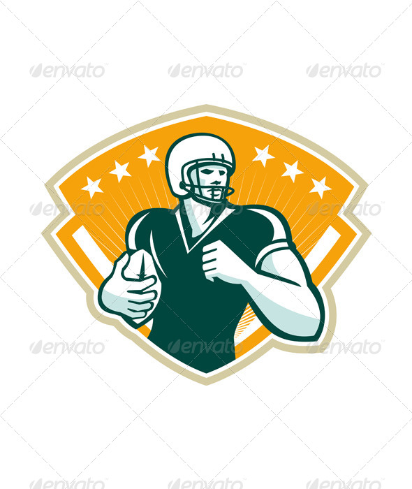 GraphicRiver American Football Runningback Crest 5692254