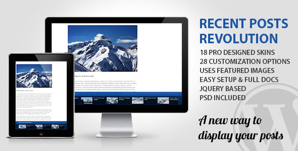 Recent Posts Revolution - CodeCanyon Item for Sale
