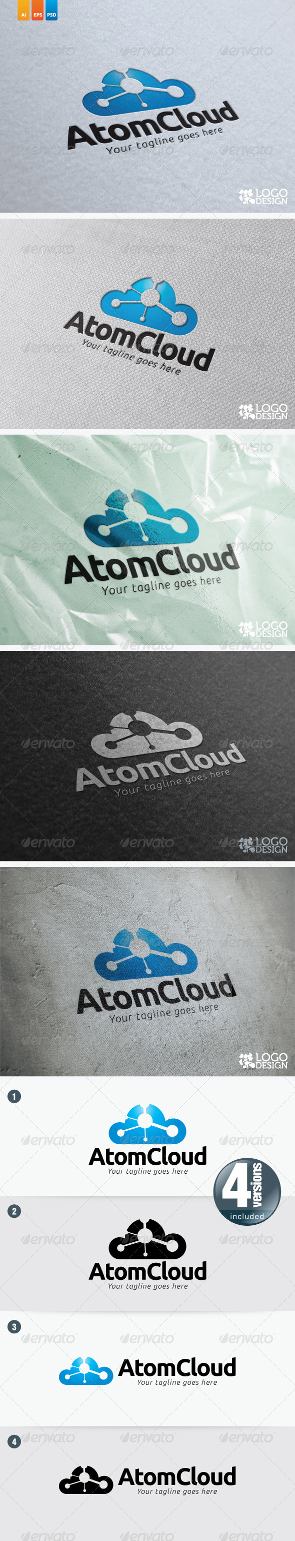 Atom Cloud - Symbols Logo Templates