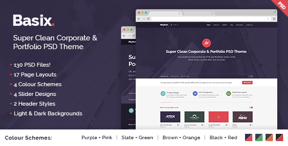 Basix - Super Clean Corporate & Portfolio Theme - Business Corporate