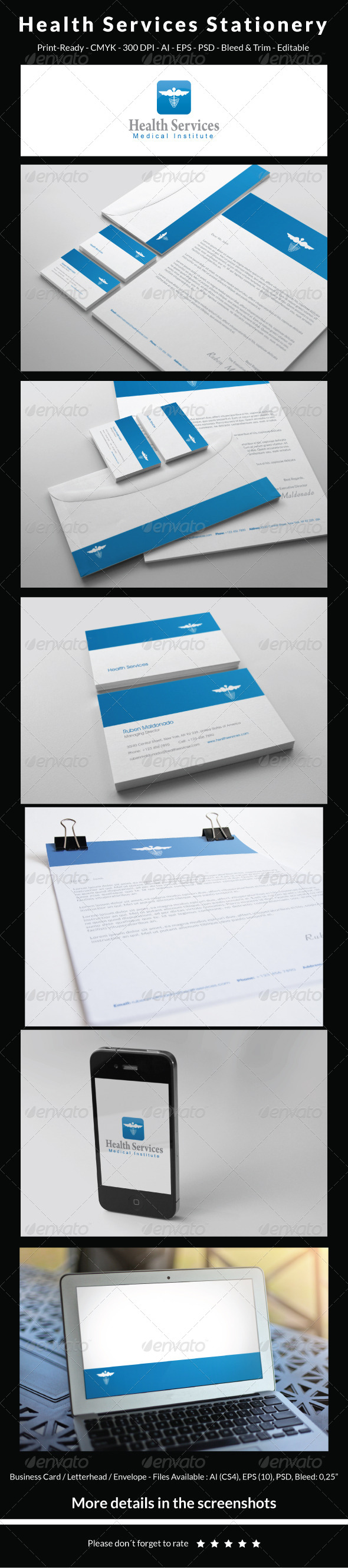 GraphicRiver Health Services Stationery 5694063