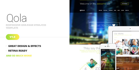 ThemeForest Qola Responsive One Page Template 5690198