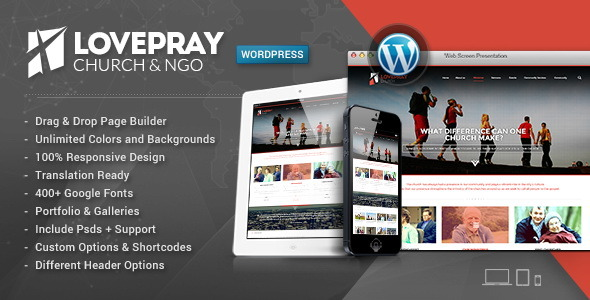 LovePray-Church & Multi-Purpose Theme