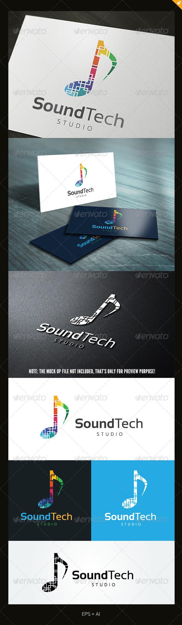 GraphicRiver Sound Technology Logo 5695942
