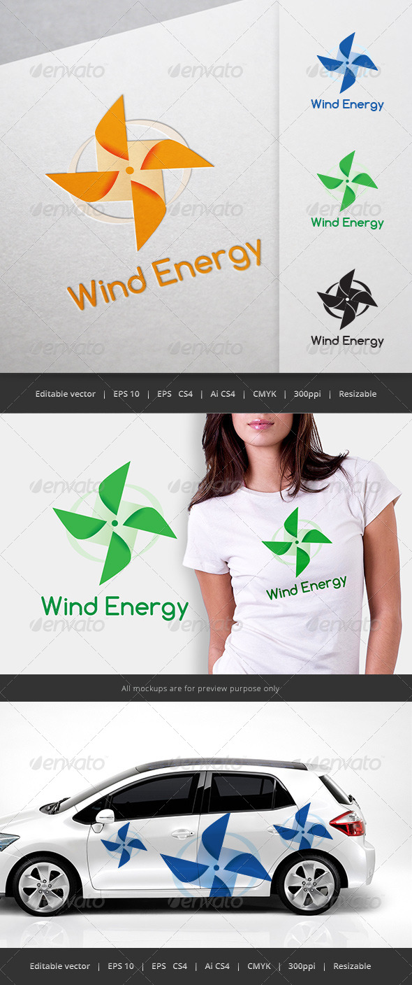 GraphicRiver Wind Energy Logo 5696093