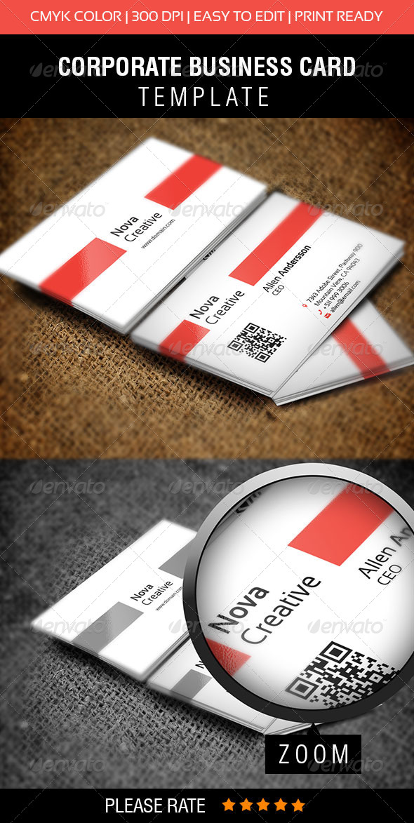 GraphicRiver Nova Creative Business Card 5604518