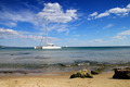 Catamaran Near To The Coast - PhotoDune Item for Sale