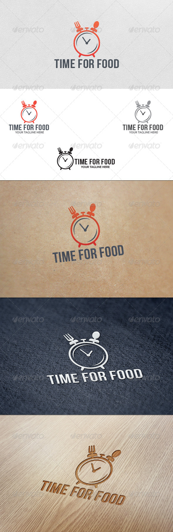 GraphicRiver Food Time Logo Template 5697928