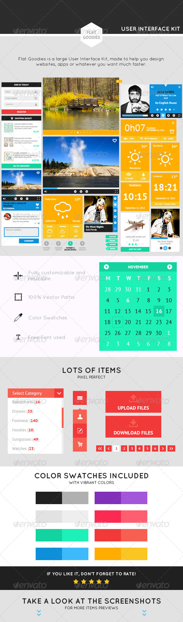 GraphicRiver Flat Goodies A Flat UI Kit 5680915