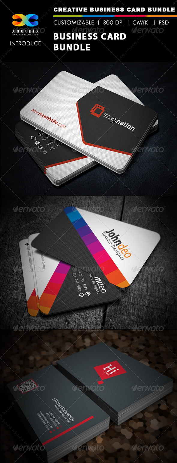 GraphicRiver Business Card Bundle 3 in 1-Vol 30 5698702