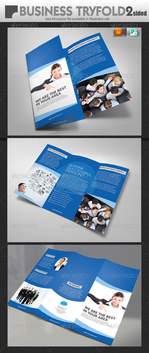 GraphicRiver Tri-Fold Business Brochure Design 5699225
