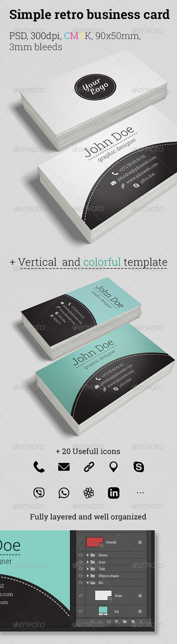 GraphicRiver Retro Business Cards 5699561