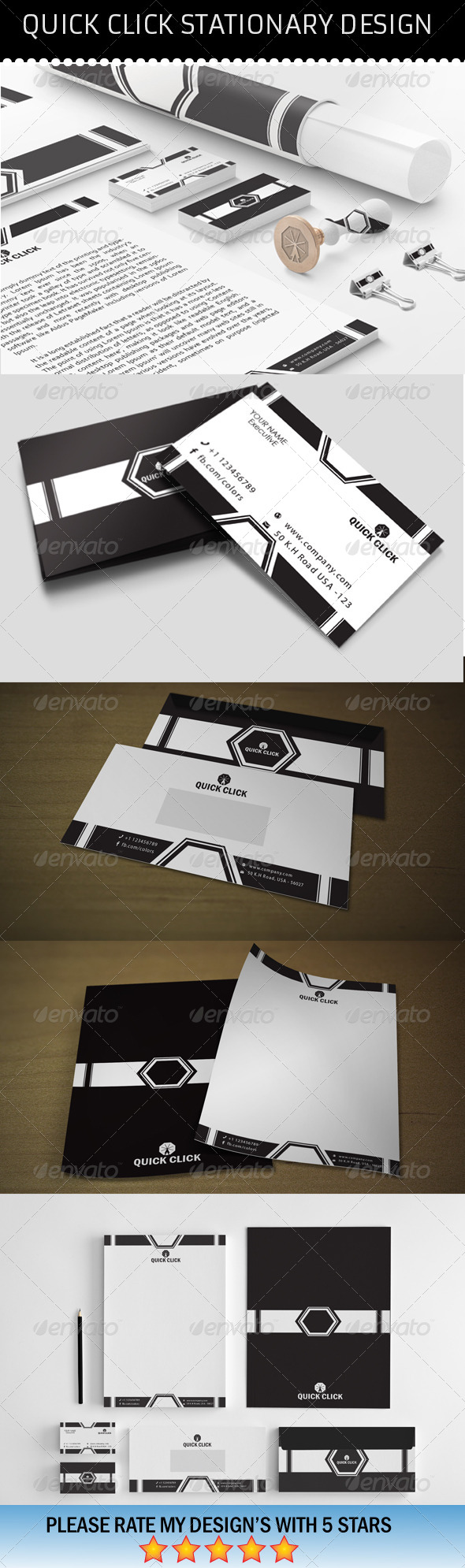 Quick Click Stationary - Stationery Print Templates