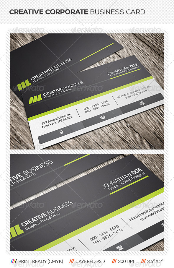 GraphicRiver Creative Corporate Business Card 5700761