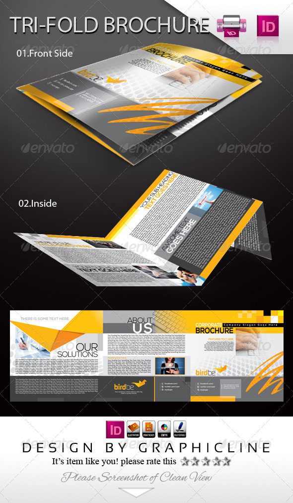GraphicRiver Birdbe Tri-fold Corporate Business Brochure 5702585