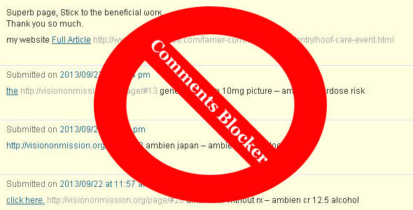 CodeCanyon Comments Blocker No Spam Any More 5702859
