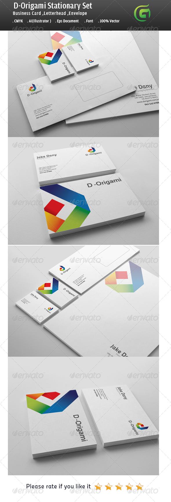 GraphicRiver D-Origami Stationary Design 5632483