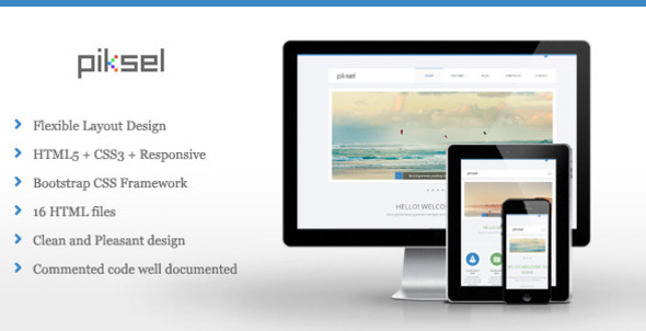 ThemeForest Piksel Multipurpose HTML Template 5265106