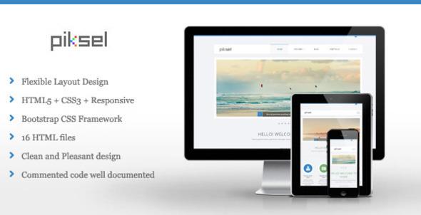 ThemeForest Piksel Multipurpose HTML Template 5265106