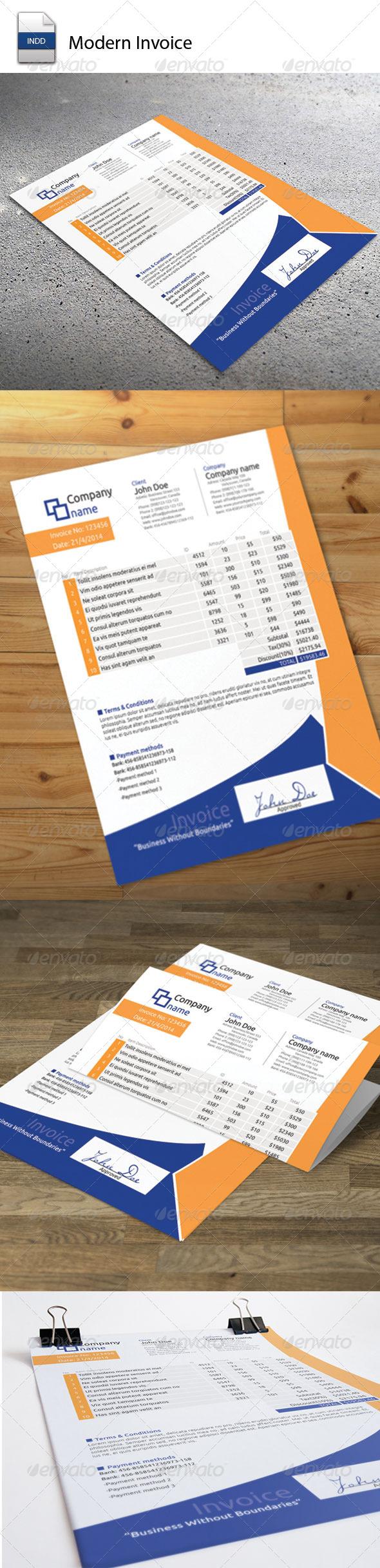 GraphicRiver Invoice Moderna 5704324