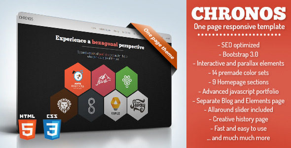 Chronos - One page responsive template - Creative Site Templates