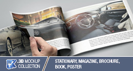 Product Mockup - Stationary, Newspaper, Magazine, Book, Brochure & Outdoor Billboard