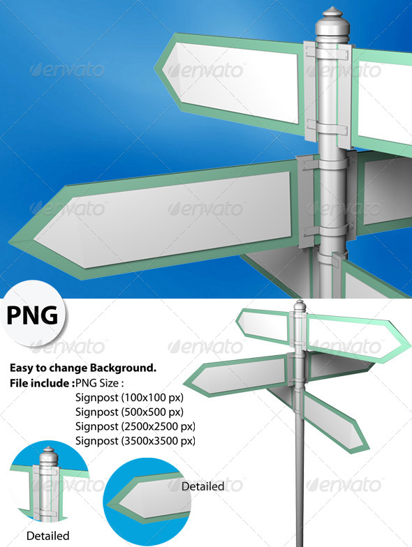 GraphicRiver Blank Signpost with easy for change Background 5675374