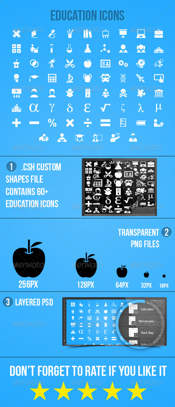 GraphicRiver Education Icons 5706291
