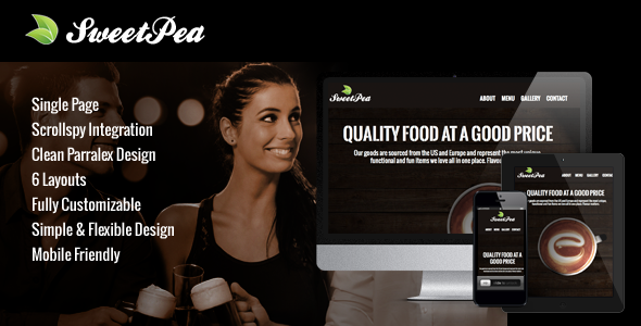ThemeForest Sweet Pea Responsive HTML One Page Template 5674398