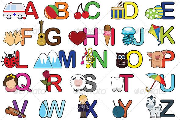 GraphicRiver Alphabet Letters 5707182