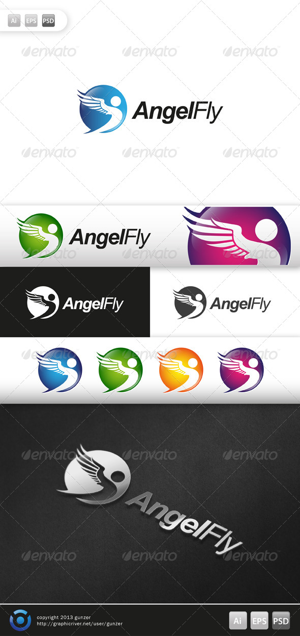 GraphicRiver Angel Fly Logo 5709132